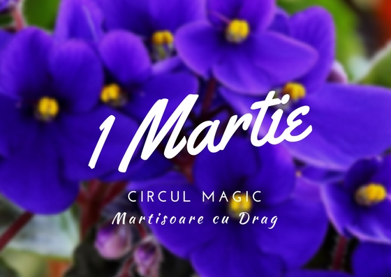 Martisoare Quilling 2017 Violete de Parma Handmade Circul Magic