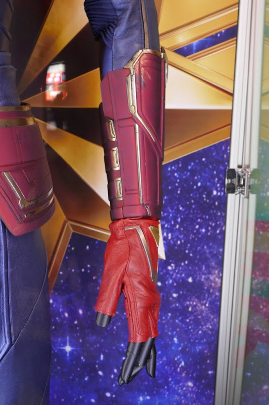 Captain Marvel gauntlet glove detail