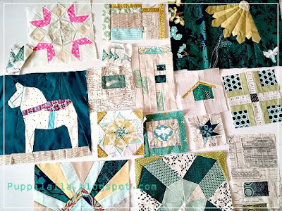 Quilting, Foundation paper piecing, Quilt blocks, sampler quilt, Puppilalla