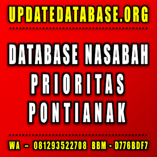 Jual Database Nasabah Pontianak