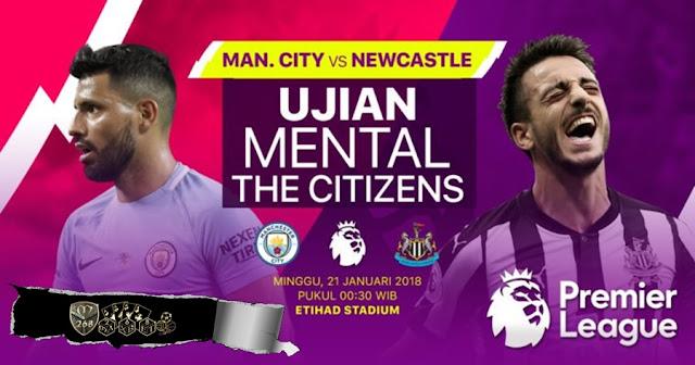 Prediksi Bola Manchester City Vs Newcastle United , Minggu 21 January 2018 Pukul 00.30 WIB