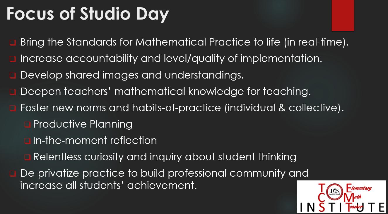 TCS-EMT Institute: April 2018 - EMT Institute - Studio Day