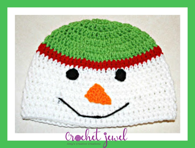 Amys Crochet Creative Creations Crochet Snowman Hat All Sizes