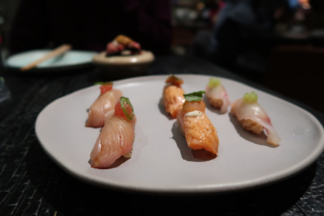 The second set of nigiri from San Francisco's Robin.