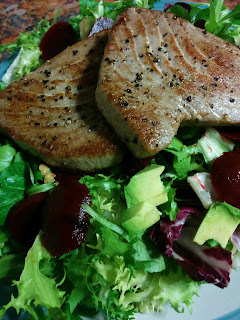 Tuna Steaks and Salad