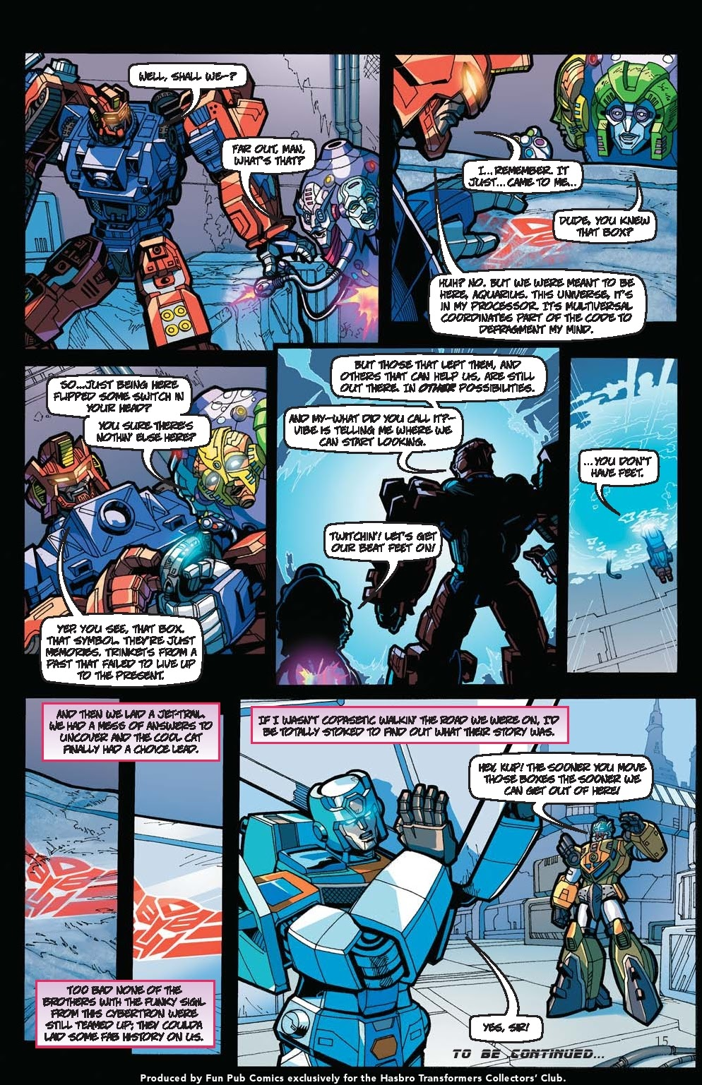 Read online Transformers: Collectors' Club comic -  Issue #31 - 15