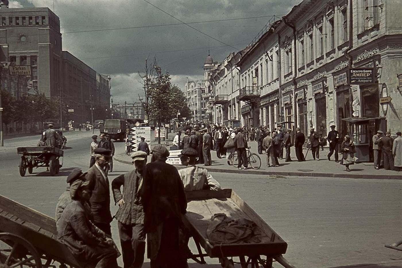 Vista de la calle en Jarkov.
