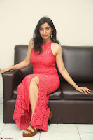 Sakshi Kakkar in Red Legsplit Sleeveless Gown at Dare movie Press meet ~  Exclusive 072.JPG
