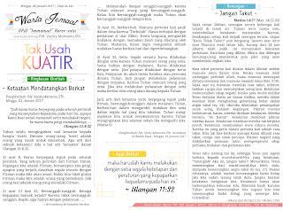 Contoh Cara Membuat Warta Jemaat Gereja unik dan lengkap