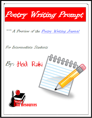Free writing prompt for poetry - from Raki's Rad Resources.