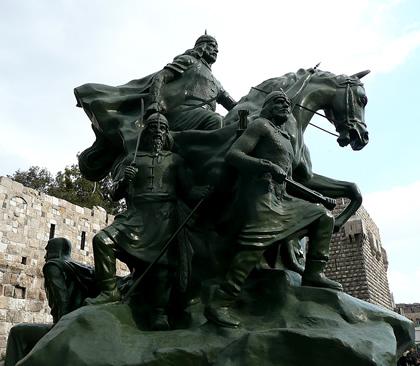 Saladin statue