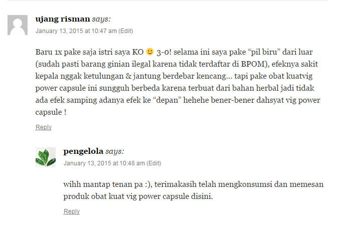 Jual Vig power Capsule Di Tangerang