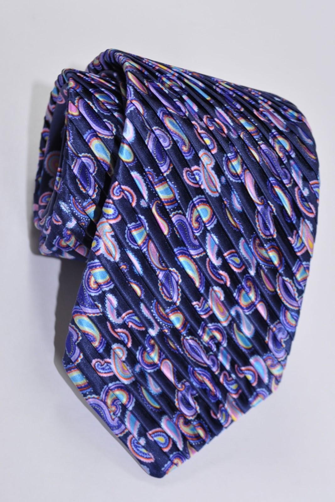 Vitaliano Pancaldi Pleated Silk Ties SALE | Designer Ties ...