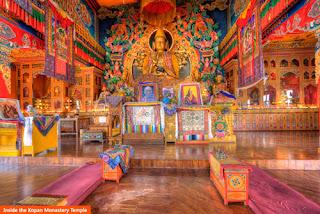 Cover Photo: Inside the Kopan Monastery Temple
