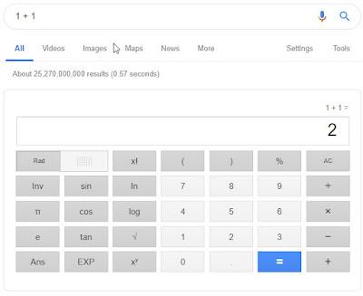 Kalkulator Pada Google Chrome