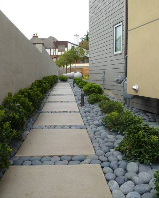 20 Inexpensive Easy Gravel Paths, Walkway And Stepping ... on Side Yard Path Ideas id=59495