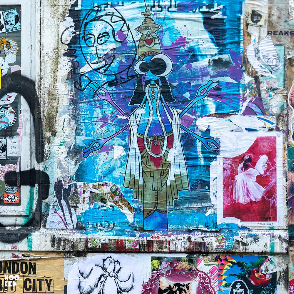 Street Artist Qwert - Brick Lane Paste-ups