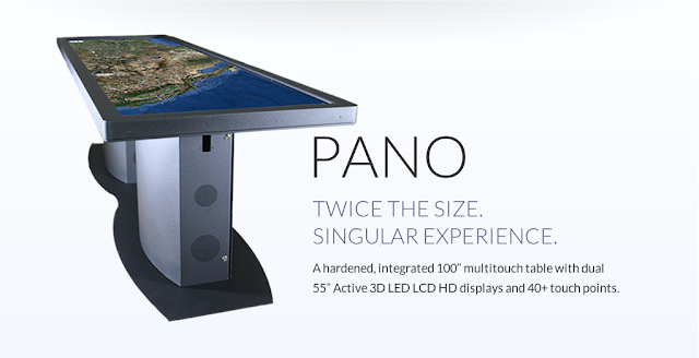 "Ideum Pano a 110"" Multi-Touch Interactive Table"