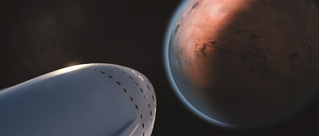 SpaceX Mars Colonial Transporter - arriving at Mars