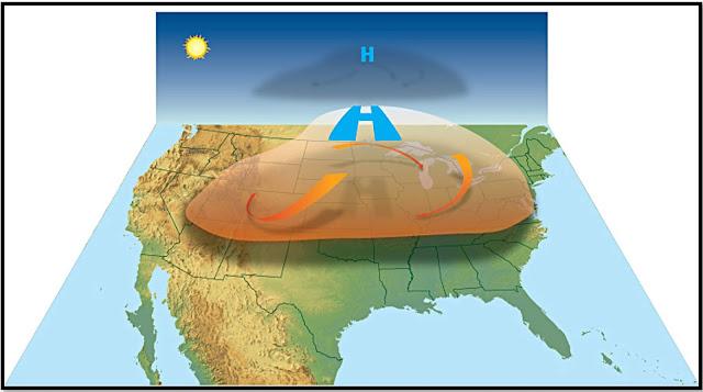 Udara turun yang mengalami pemanasan adiabatik