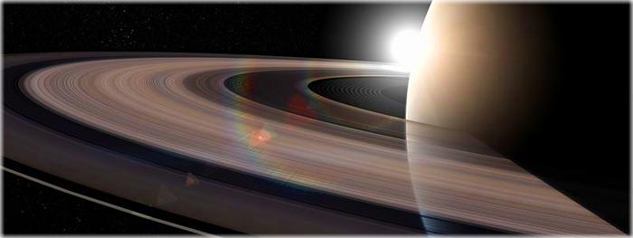quebra-cabeças dos anéis de Saturno