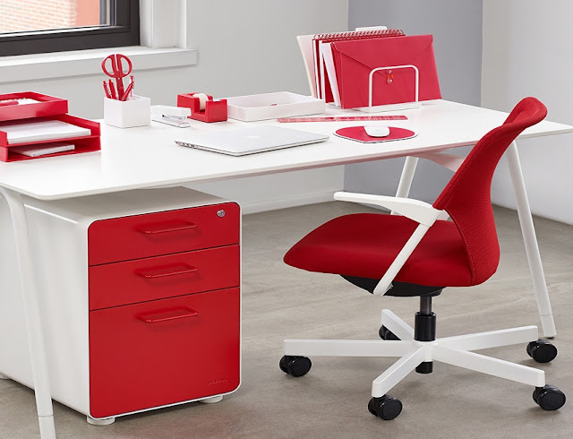 best buy modern red and white office furniture for sale
