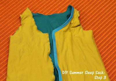 DIY Summer Sleep Sack for Baby Tutorial Step 3