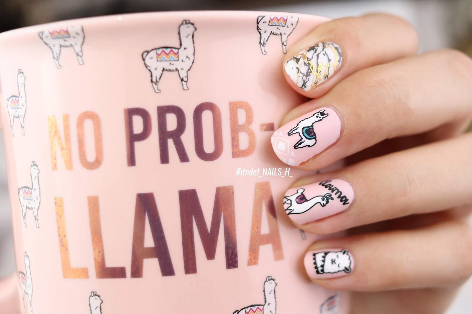 No Prob-Llama // MoYou London Explorer 33 Plate - Pink Llama Nail Design