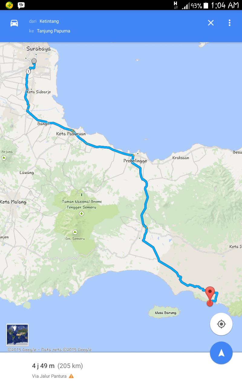 Lokasi, tiket masuk & jalan menuju pantai papuma jember
