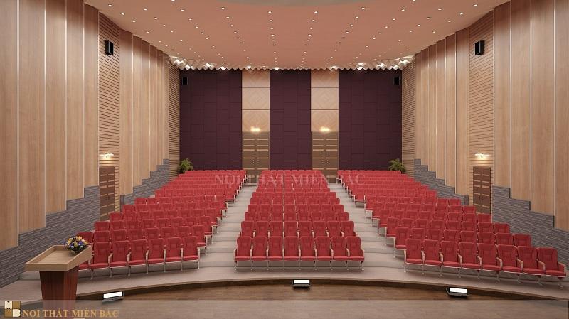 Thiết kế hội trường trọn gói tạo tính đồng bộ cho không gian