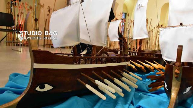 Εγκαινιάσθηκε η έκθεση «με χρώμα, μάρμαρο και ξύλο» του Κώστα Δημούλη στο Ναύπλιο (βίντεο)