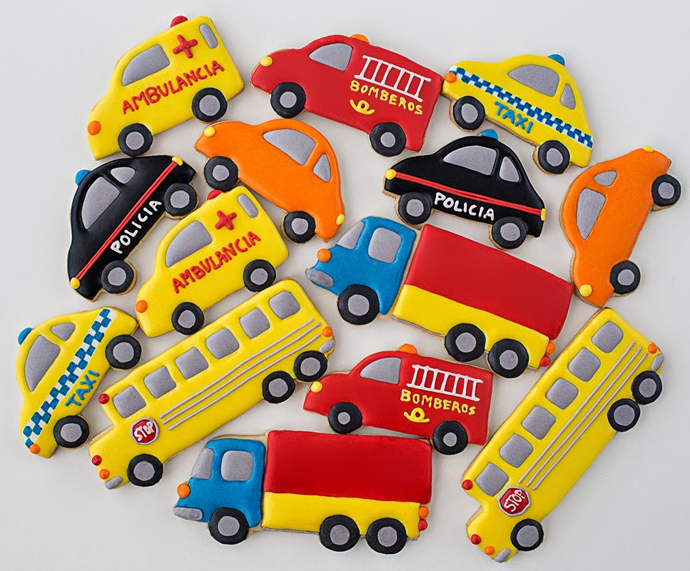 Galletas decoradas coches