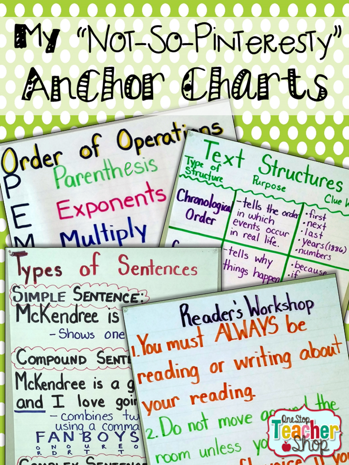My Not So Pinteresty Anchor Charts