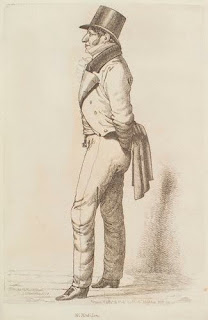 A drawing from a magazine shows Moses Montefiore as a young man