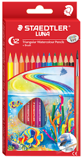 Staedtler Luna Triangular Watercolour Pencils + Brush C-12