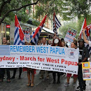 Foto Demo Aktivis Papua sambut Jokowi di Australia