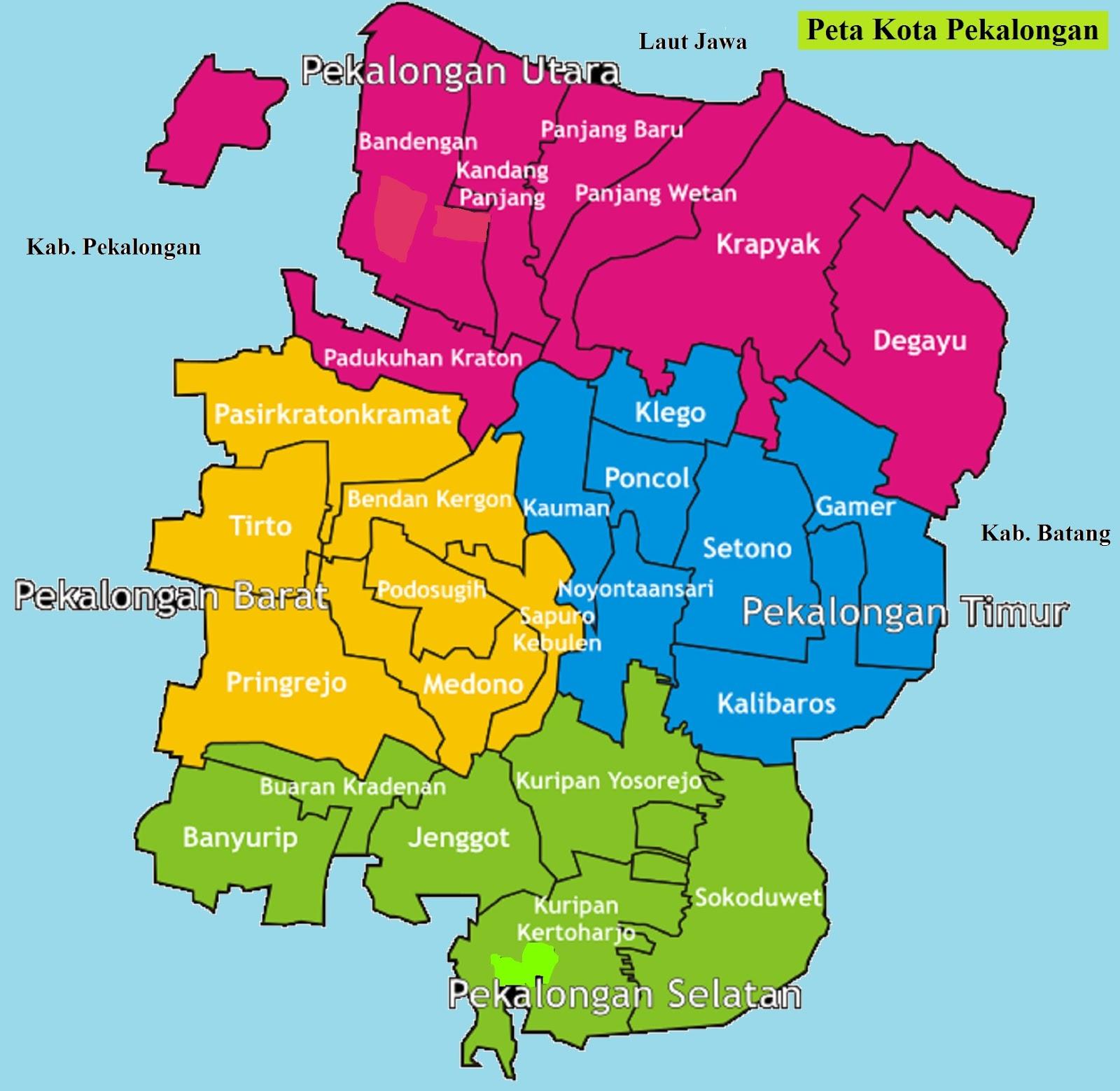 Peta Kota Pekalongan
