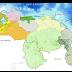 Lloviznas dispersas en: Táchira, Mérida, Trujillo, piedemonte llanero, este de Falcón, este de Miranda, Delta Amacuro y Territorio Esequibo