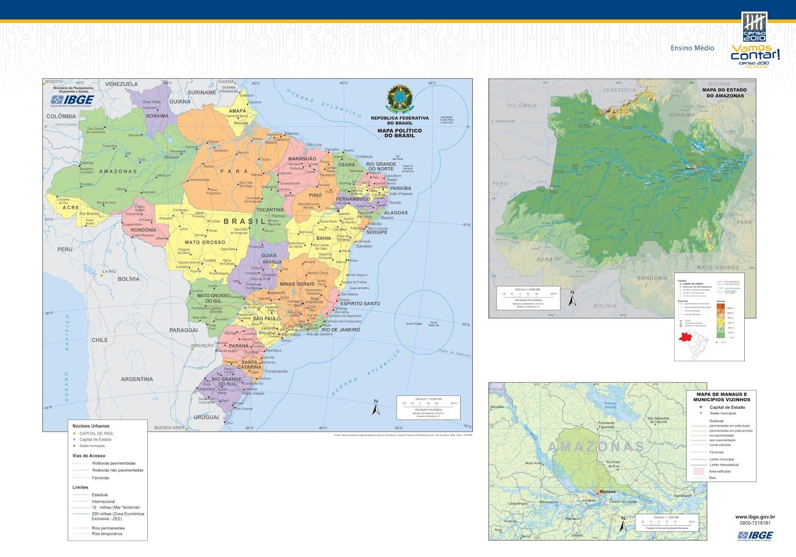 Mapas do Estado do Amazonas