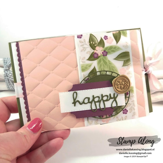 Stampin' Up! Floral Romance Specialty DSP, Mini-album teamdag Lovely Stampers