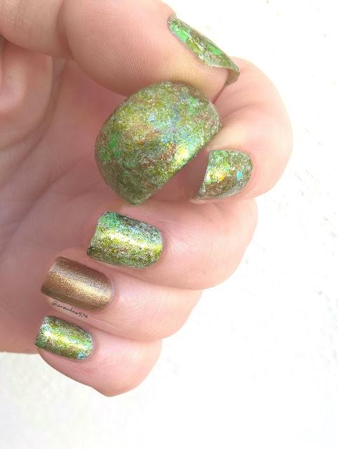 Anillo para decorar con esmaltes en verde