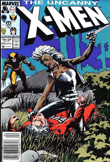 X-men v1 #216 marvel comic book cover art by Barry Windsor Smith