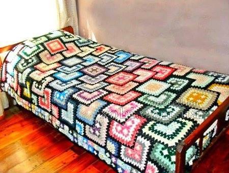 Patrón #1339: Colcha a Crochet