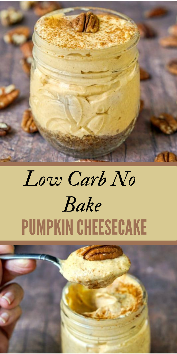 EASY NO BAKE PUMPKIN CHEESECAKE #pumpkin #cake