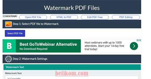 cara membuat stempel watermark secara online