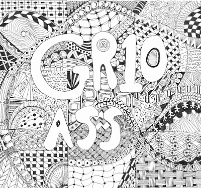 File Cover. Zentangle. Doodle. Yana Fourie. Eccentric Eclectic Studio