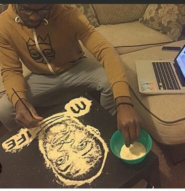 Fan creates art of Don Jazzy using garri