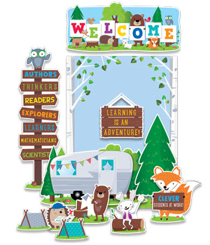 http://www.creativeteaching.com/products/woodland-friends-woodland-welcome-bulletin-board