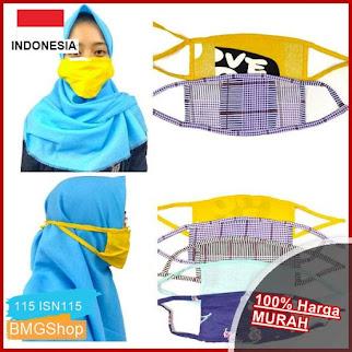 ISN115 Masker Kain Tali Hijab Friendly BMGShop