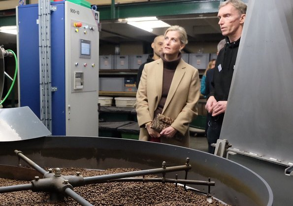 The Countess of Wessex visited Farrers Coffee in Kendal